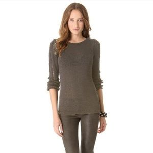 Rachel Zoe Pullover Open Knit Sweater